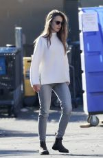 LILY COLLINS at a Recycling Center in Los Angeles 01/13/2021