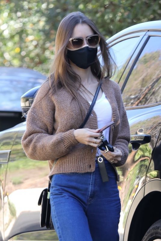 LILY COLLINS in Denim Out in Los Angeles 01/20/2021