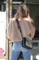 LILY COLLINS Shopping at Jewerly Store in Beverly Hills 01/11/2021