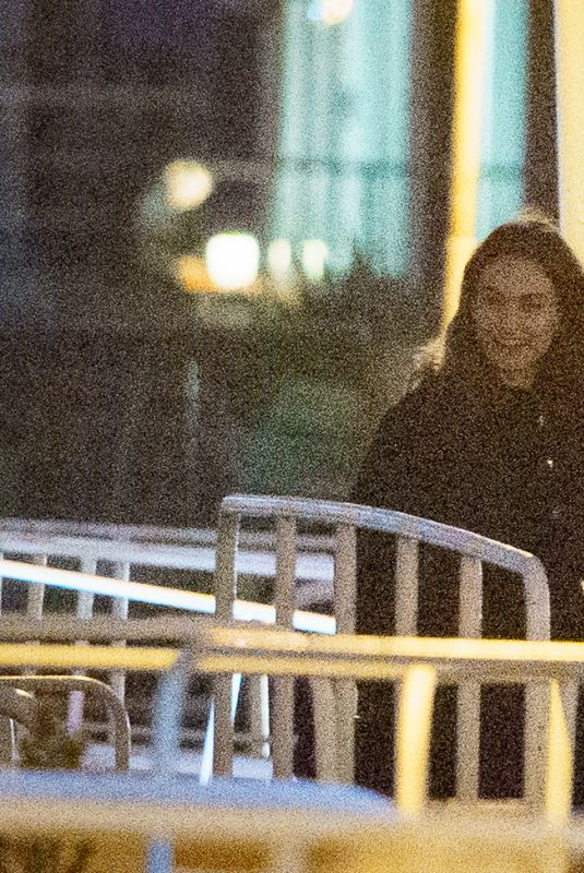 LILY JAMES on the Set of What's Love Go To Do Wth It? in London 01/14/2021