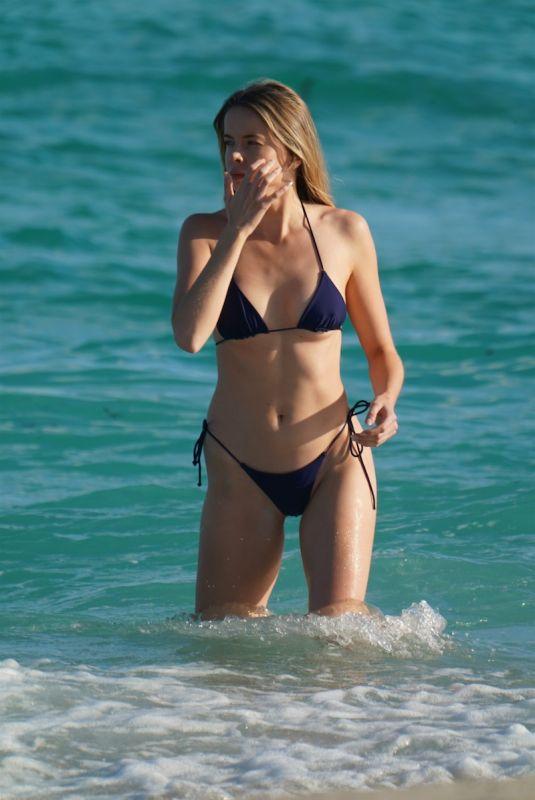 LOUISA WARWICK in Bikini at a Beach in Miami 01/10/2021
