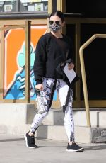 LUCY HALE Arrives at a Private Gym in Los Angeles 01/25/2021