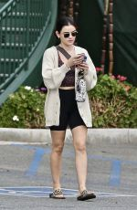 LUCY HALE Grabbing Food To Go in West Hollywood 01/25/2021