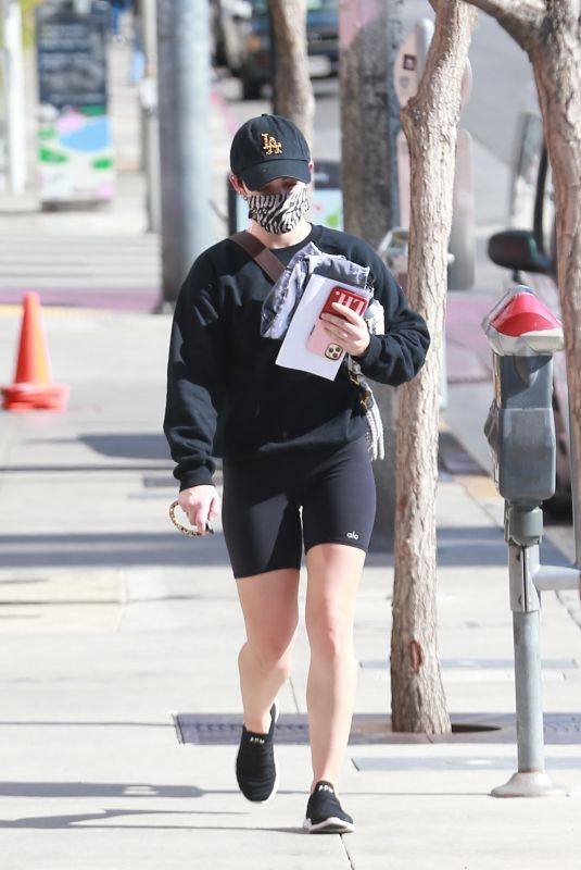 LUCY HALE Out and About in Los Angeles 01/25/2021