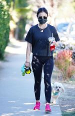 LUCY HALE Out Hiking with Her Dog in Los Angeles 01/18/2021