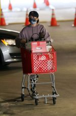 LUCY HALE Shopping at Target in Los Angeles 01/03/2021