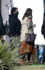 MANDY MOORE on the Set of This Is Us in Los Angeles 01/25/2021