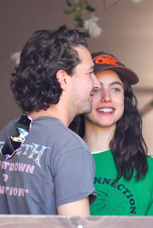 MARGARET QUALLEY and Shia Labeouf Out in Studio City 01/04/2021