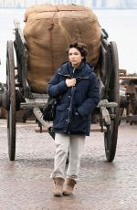 MATILDA DE ANGELIS Arrives on the Set of Across The River And Into The Trees in Venice 01/20/2021