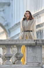 MATILDA DE ANGELIS on the Set of Across The River And Into The Trees in Venice 01/19/2021