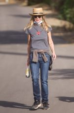 MEG RYAN Out Hiking in Los Angeles 01/13/2021