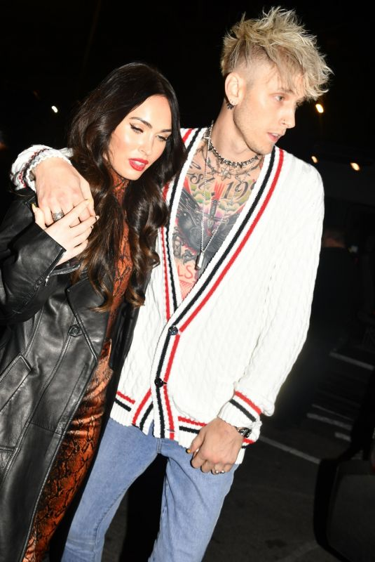 MEGAN FOX and Machine Gun Kelly Arrives at Their Hotel in New York 01/30/2021