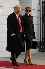 MELANIA and Donald TRUMP Departing from the White House in Washington, DC 01/20/2021
