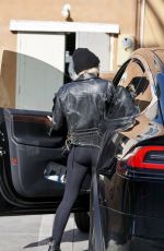 MILEY CYRUS Leaves a Gym in West Hollywood 01/24/2021