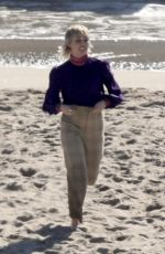 MILEY CYRUS Shooting a New Music Video at a Beach in Malibu 01/18/2021