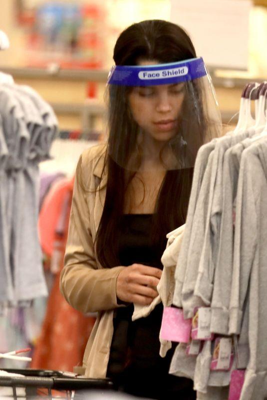 MIYA PONSETTON Shopping at Target in Los Angeles 07/01/2021