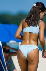 MONTANA BROWN in Bikini on the Beach in Barbados 12/31/2020