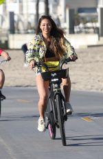 MONTANA YAO Out Riding a Bike at Santa Monica Beach 01/23/2021