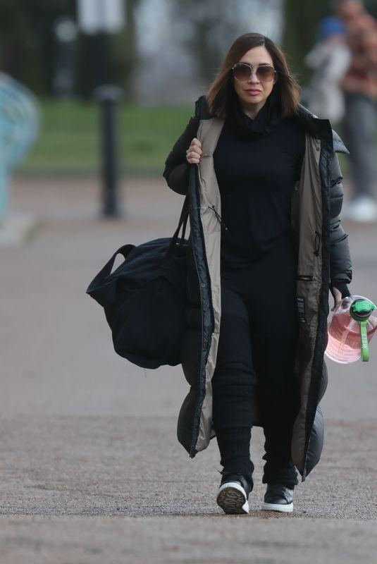 MYLEENE KLASS Arrives at Dancing on Ice Rehearsals in London 01/11/2021