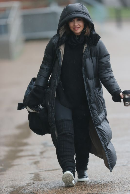 MYLEENE KLASS Heading to Dancing On Ice Launch in London 01/14/2021