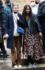 NAOMI CAMPBELL and CHRISTY TURLINGOTN Leaves Fendi Fashion Show in Paris 01/27/2021