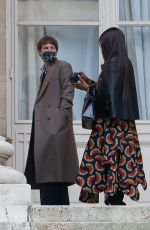 NAOMI CAMPBELL Arrives at Fendi Fashion Show in Paris 01/27/2021