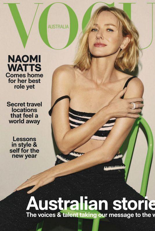 NAOMI WATTS in Vogue Magazine, Australia January 2021