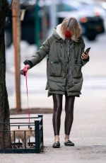 NAOMI WATTS Out with Her Dog in New York 01/16/2021
