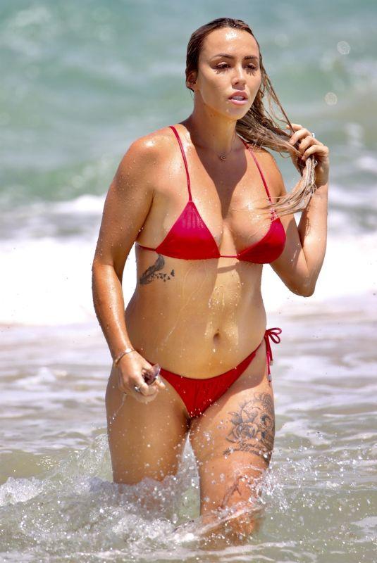 NATASHA SPENCER in Bikini at a Beach on Gold Coast 01/18/2021