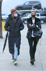 NICKY HILTON Wearing a Mask Out in New York 01/19/2021