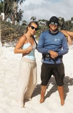 NICOLE SCHERZINGER in a Black Swimsuit at Turks and Caicos Islands 01/05/2021