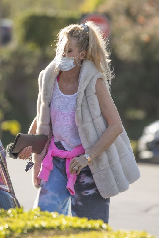 NICOLLETTE SHERIDAN Out in Calabasas 01/24/2021