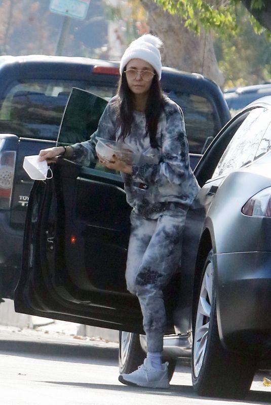 NINA DOBREV Heading to Lunch in Los Angeles 01/04/2021