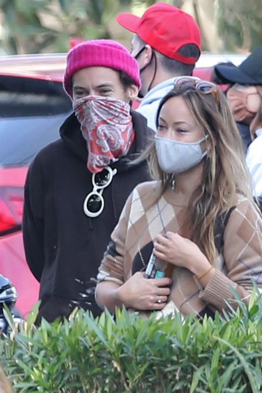 OLIVIA WILDE and HARRY STYLES Out with Friends in Santa Barbara 01/03/2021