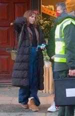 OPHELIA LOVIBOND on the Set of a Princess in London 01/23/2021