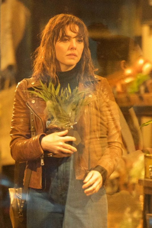 OPHELIA LOVIBOND on the Set of a Series in London 01/23/2021