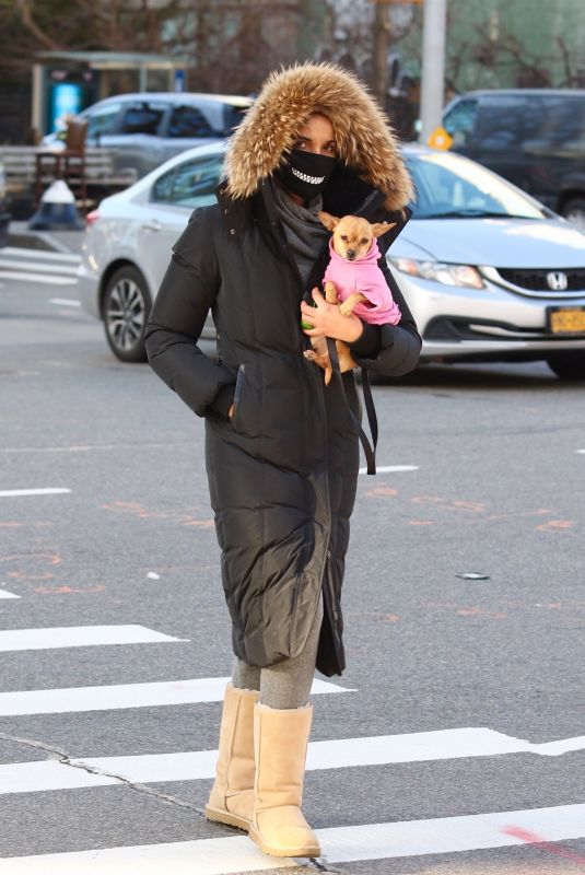 PADMA LAKSHMI Out with Her Dog in New York 01/22/2021