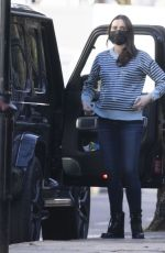 Pregnant CHRISTINE LAMPARD Out in London 01/22/2021