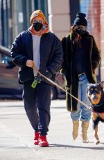 Pregnant EMILY RATAJKOWSKI and Sebastian Bear-mcclard Out with Their Dog in in New York 01/10/2021