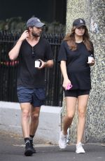 Pregnant KSENIJA LUKICH Out for Coffee in Sydney 01/19/2021
