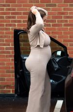 Pregnant LAUREN GOODGER Out in Essex 01/18/2021