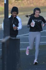 REBECCA GORMLEY and Chris Biggs Workout in Newcastle 00/16/2021