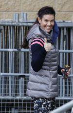REBEKAH VARDY Arrives at Nottingham Ice Rink 01/25/2021