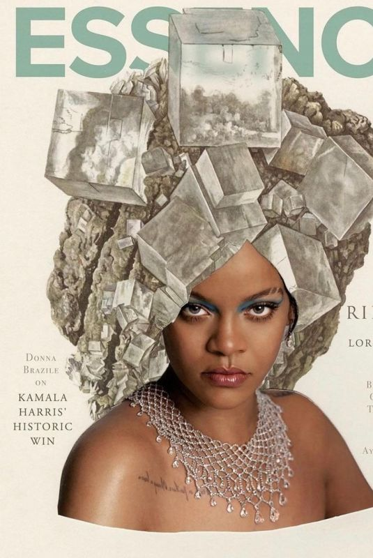 RIHANNA in Essence Magazine, February 2021