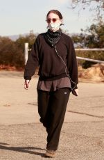 ROONEY MARA Out Hiking in Los Angeles 01/16/2021