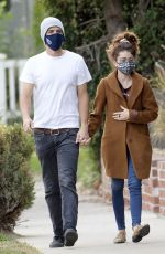 SARAH HYLAND and Wells Adams Out in Hollywood 01/19/2021