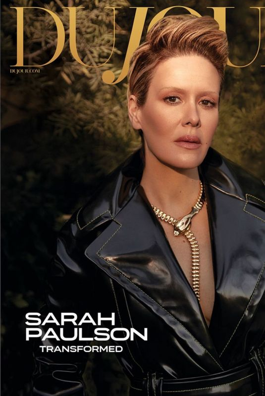 SARAH PAULSON for Dujour Magazine, January 2021