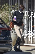 SELMA BLAIR at Alfred Coffee in Studio City 01/21/2021