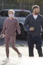 SHARNA BURGESS and Brian Austin Green Leaves 10 Speed Coffee in Calabasas 01/24/2021