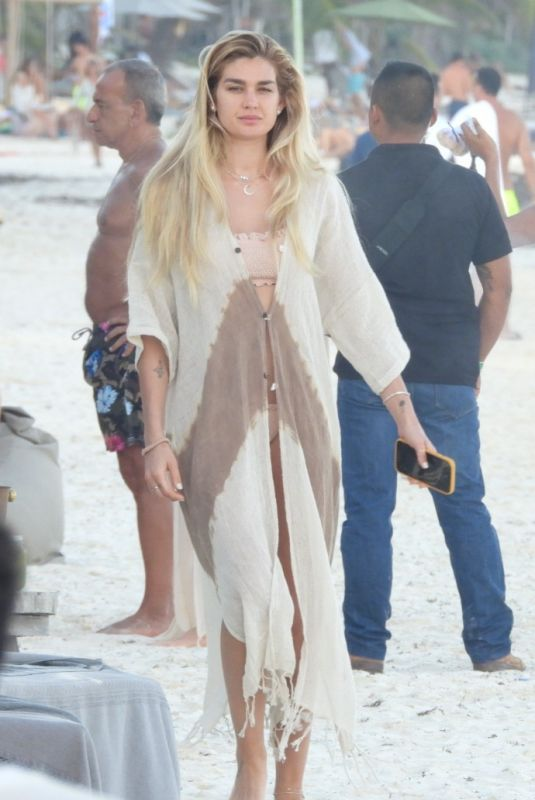 SHAYNA TAYLOR Out at a Beach in Tulum 01/15/2021